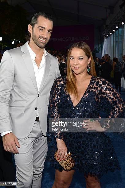 Toni Costa and Adamari Lopez arrives at the 2015 Premios Tu Mundo from the American Airlines Arena in Miami Florida on August 20 2015 PREMIOS TU...