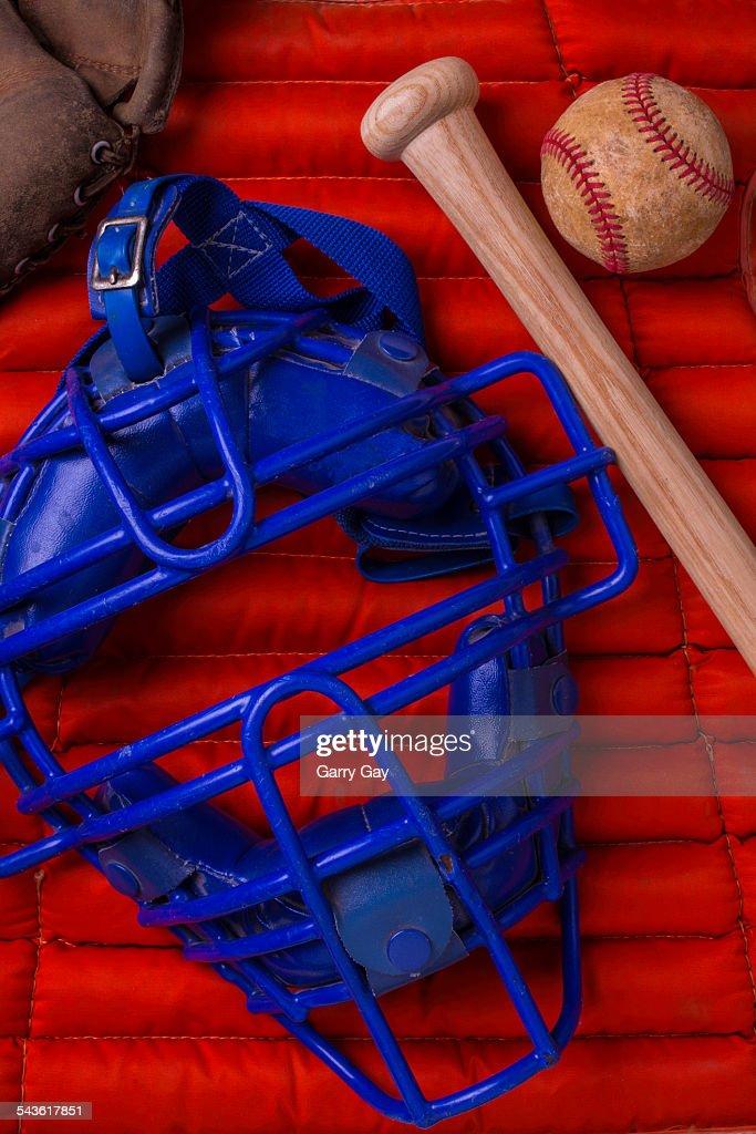 Blue catchers mask