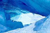 Blue cave in Antarctica
