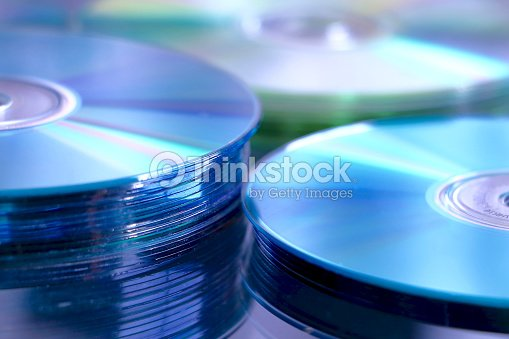 Blue cd stack : Stock Photo