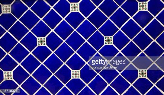 Blue Ceramic Tile Background