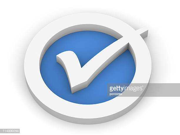 Blue Check Mark-Symbol