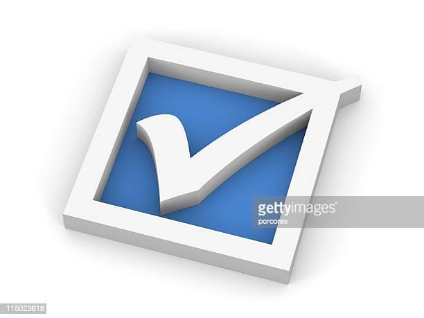 Blue Check Mark Symbol