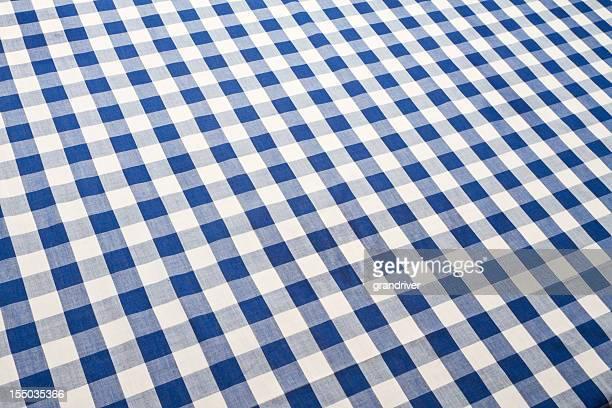 Cuadro vichy tabla de tela azul ajedrezada