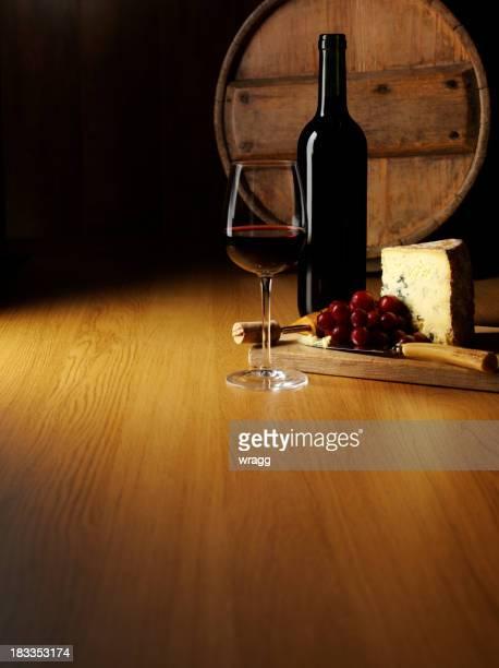 Queijo azul e vermelho Vinho
