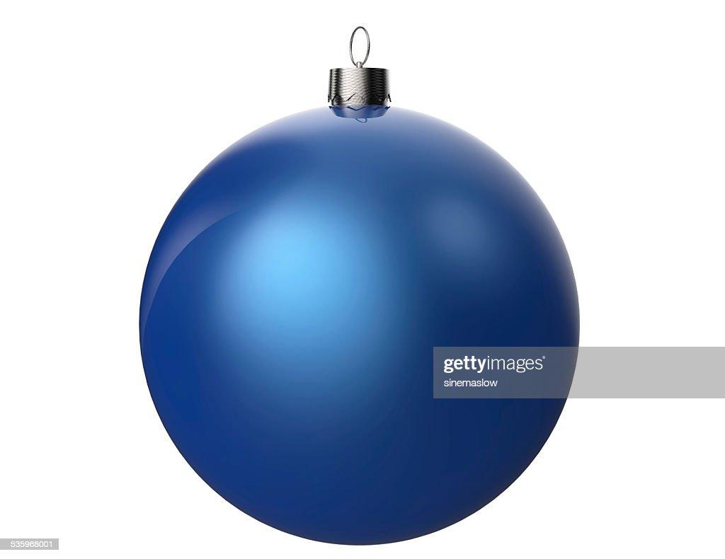 Blue Christmas Ball : Stock Photo