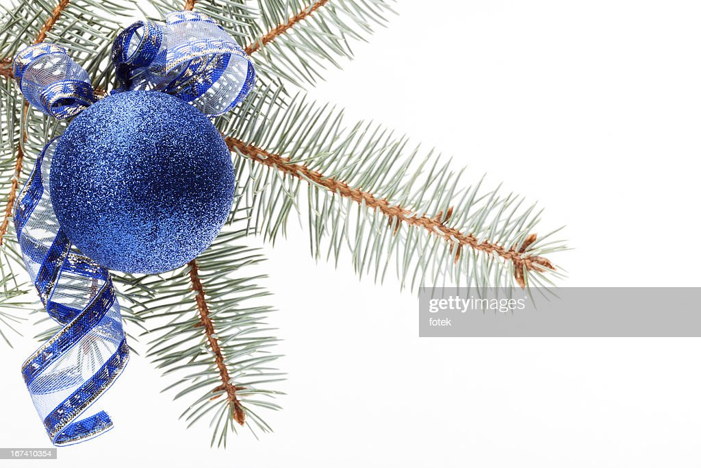 Blue christmas bauble : Bildbanksbilder