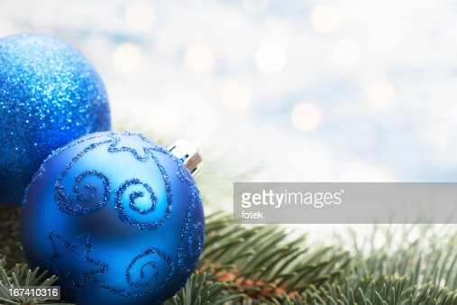 Blue christmas decoration : Stock Photo