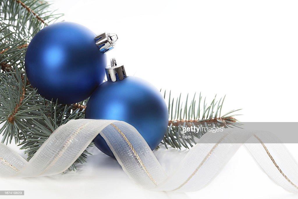 Blu Decorazione natalizia : Foto stock