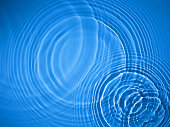Blue circle water ripple background