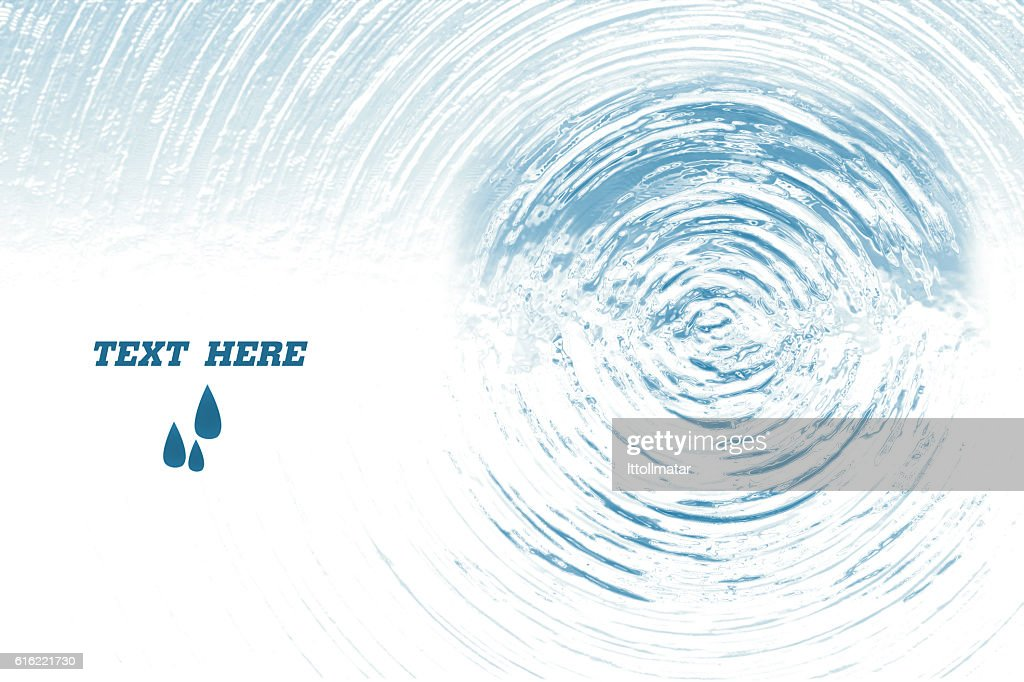 Blue circle water ripple background,illustration : Bildbanksbilder