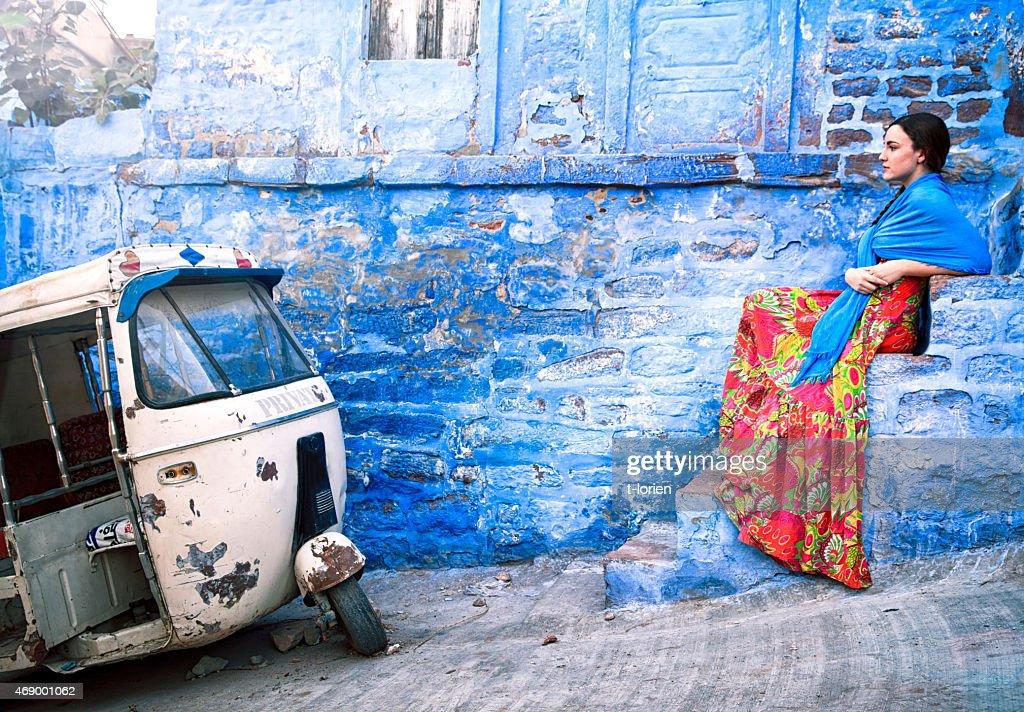 Blue City Jodhpur Portrait. : Stock Photo