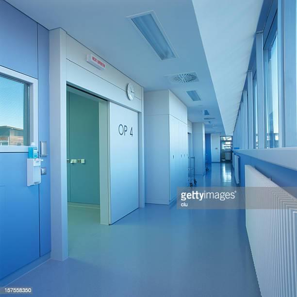 Blue clean hospital floor
