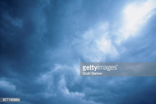 Blue clouds : Stock Photo