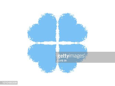 ブルー クローバーのシンボル ス...