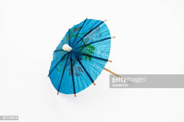 Blau Cocktail-Regenschirm