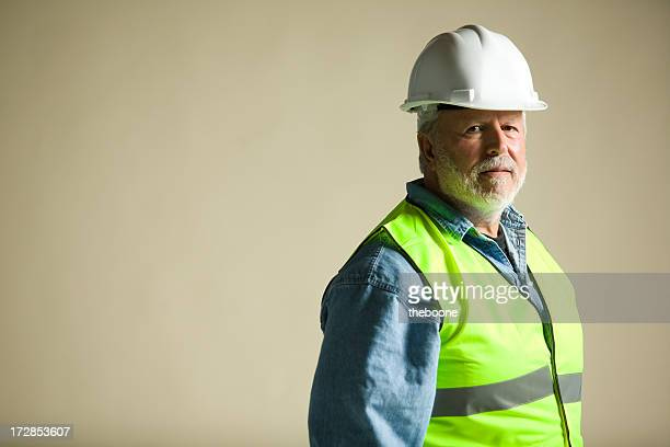 blue collar worker portraits