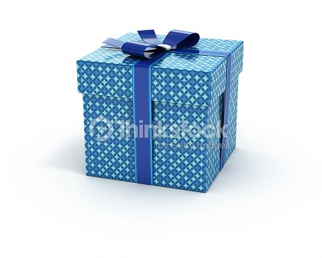 Blue color gift box isolated white background blue color gift box isolated white background negle Images