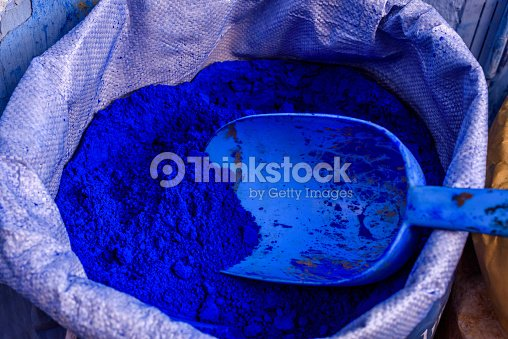 Blue Color Powder Chefchaouen Morocco Stock Photo Thinkstock