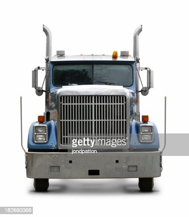 Blue commercial truck