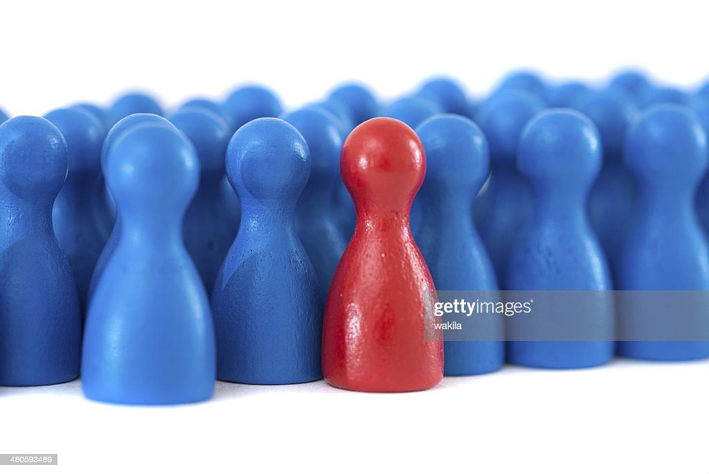 blue community with pawn in a game : Stock Photo