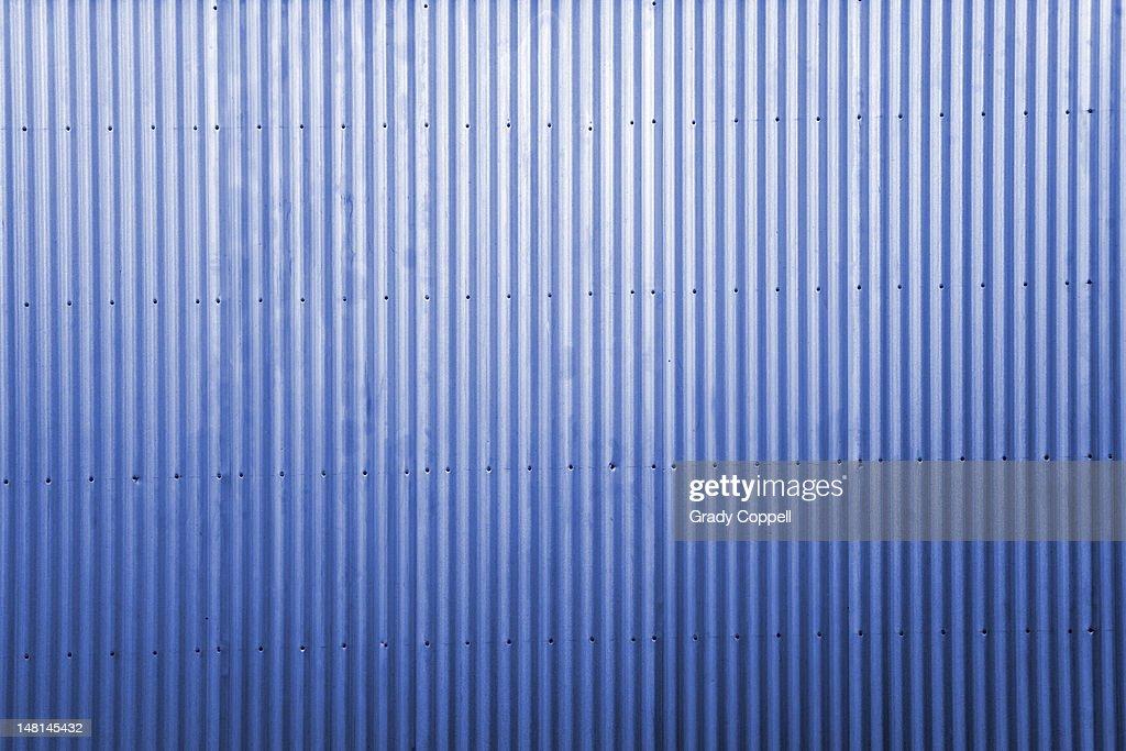 Blue corrugated iron