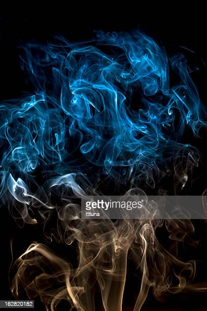 blue, creative abstract vitality impact smoke photo