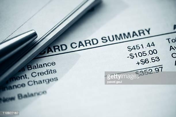 Blue Credit Card Statement