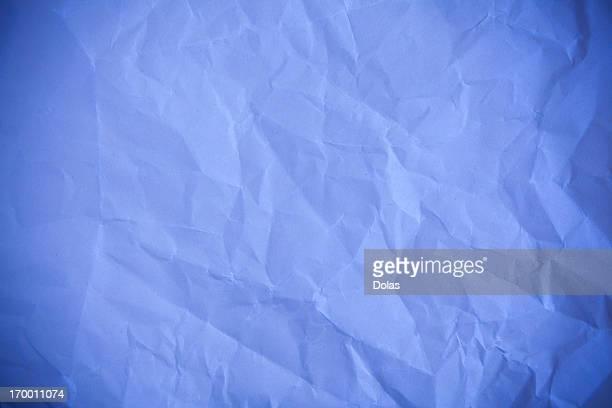 Blue crumpled paper