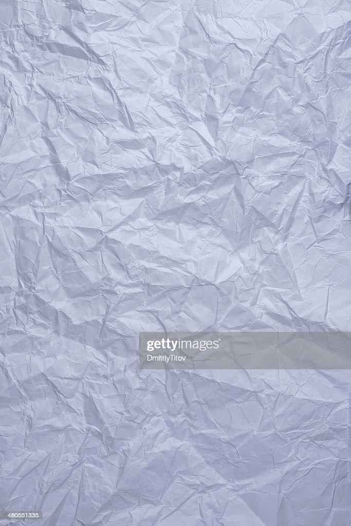 Azul Papel amarrotado : Foto de stock