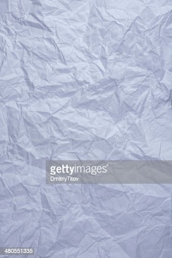 blue crumpled paper : Stock Photo