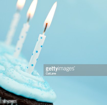 Blau Kristall-Cupcakes