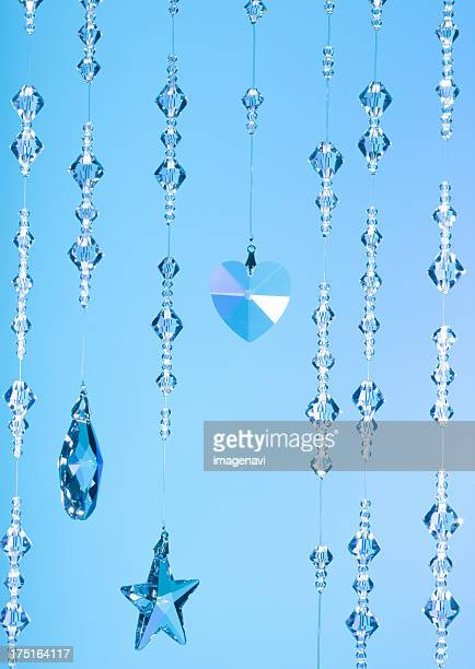 Blue crystal glasses