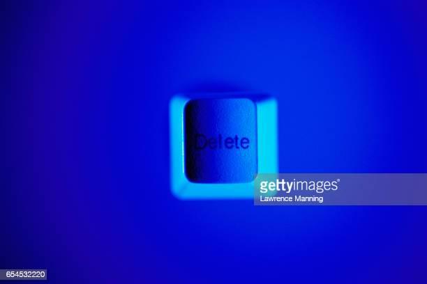 Blue Delete Keyboard Key