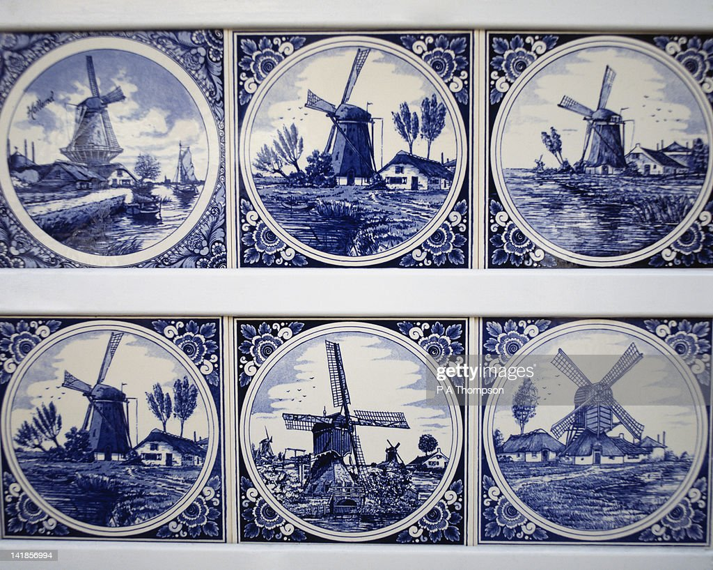 Blue Delft pottery tiles, Netherlands