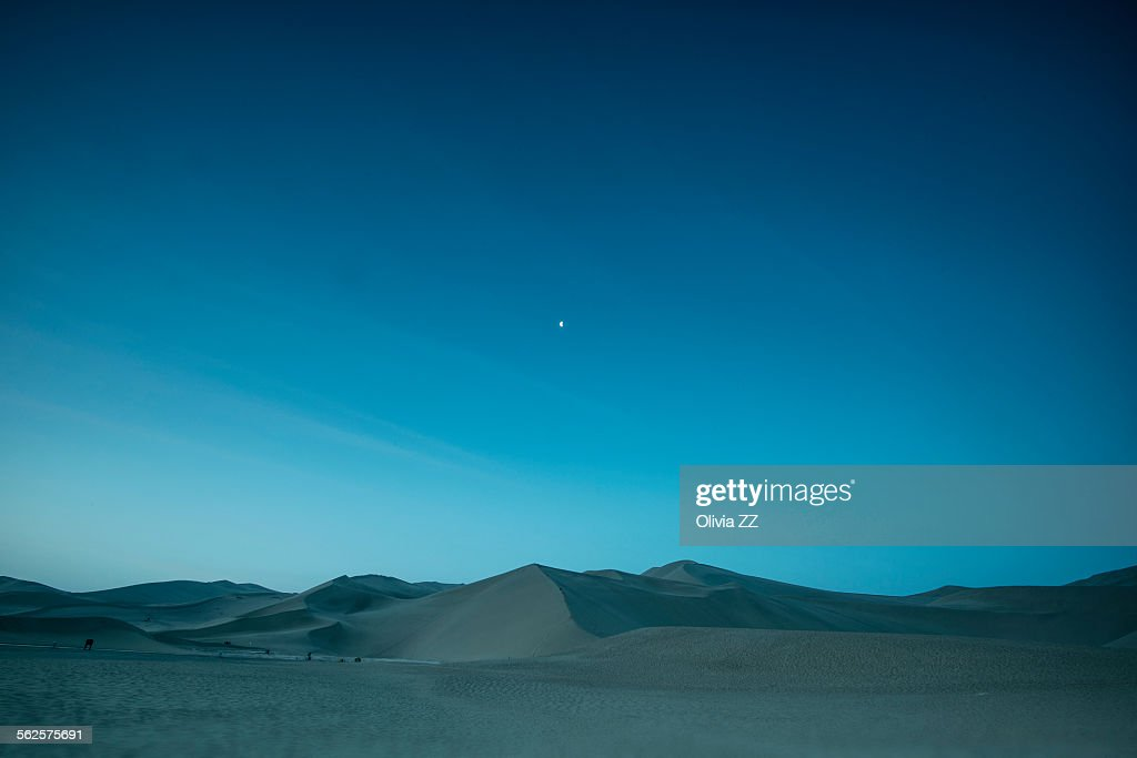Blue desert before the dawn