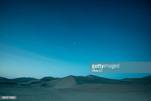 Blue desert before the dawn