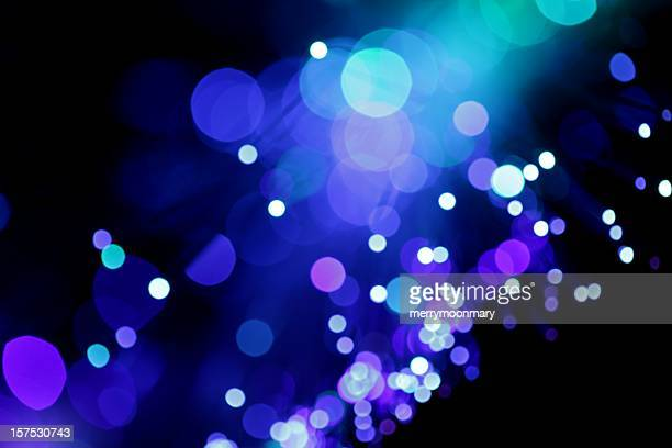 Blue Diagonal Light Burst