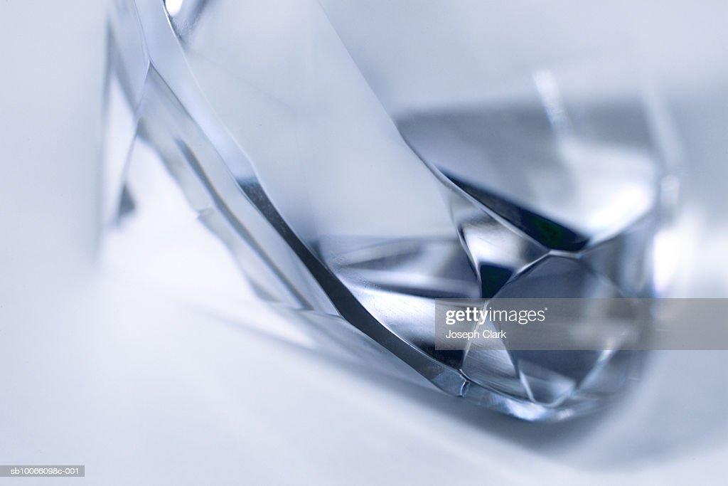 Blue diamond, close-up : Stock Photo