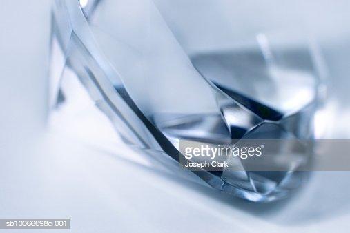 Blue diamond, close-up