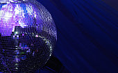 blue disco glitterball sphere