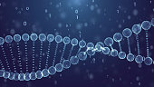 Blue DNA Spin Futuristic digital background,Abstract background for Science and technology
