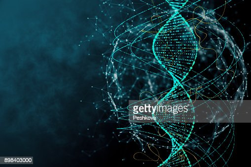 Blue DNA texture : Stock Photo