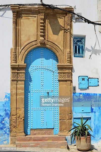 Blue door in Rabat medina