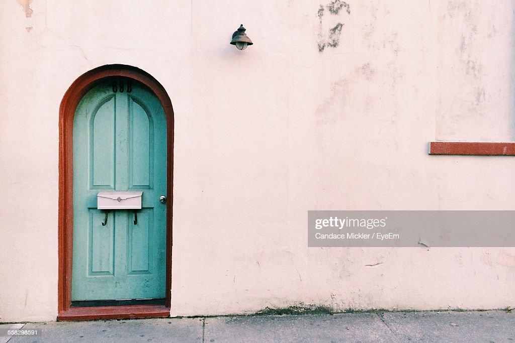 Blue Door With Letterbox & Blue Door With Letterbox Stock Photo | Getty Images pezcame.com
