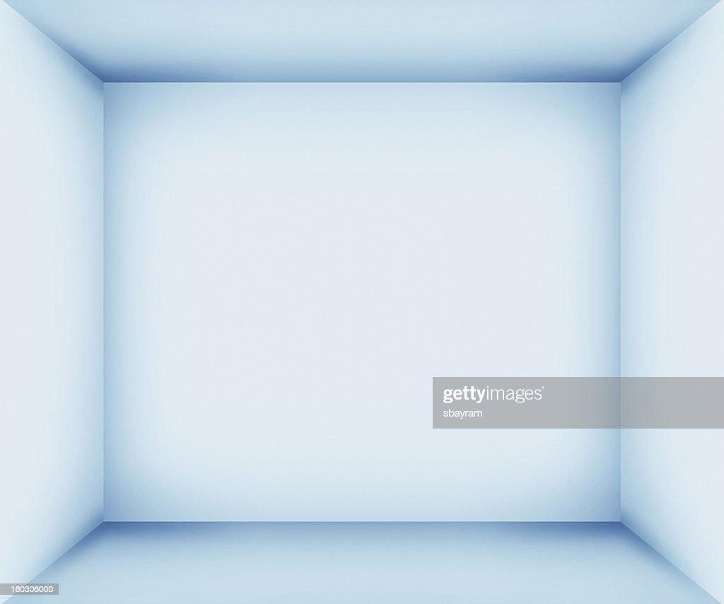XXXL Blue empty room interior