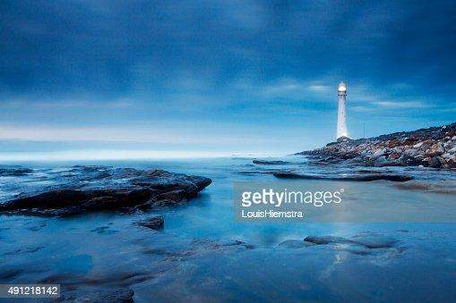 Blue Evening Lighthouse Landscape