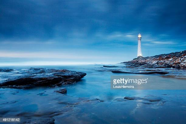 Blue Abend Lighthouse Landschaft