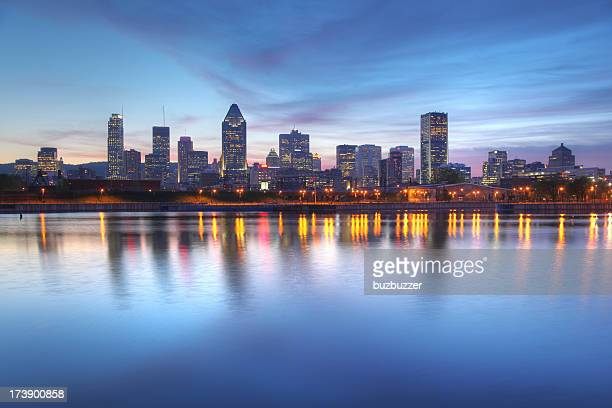 Blue Evening Sky over Montreal Cityscape
