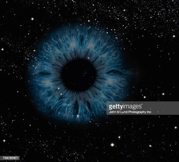 Blue eye in outer space